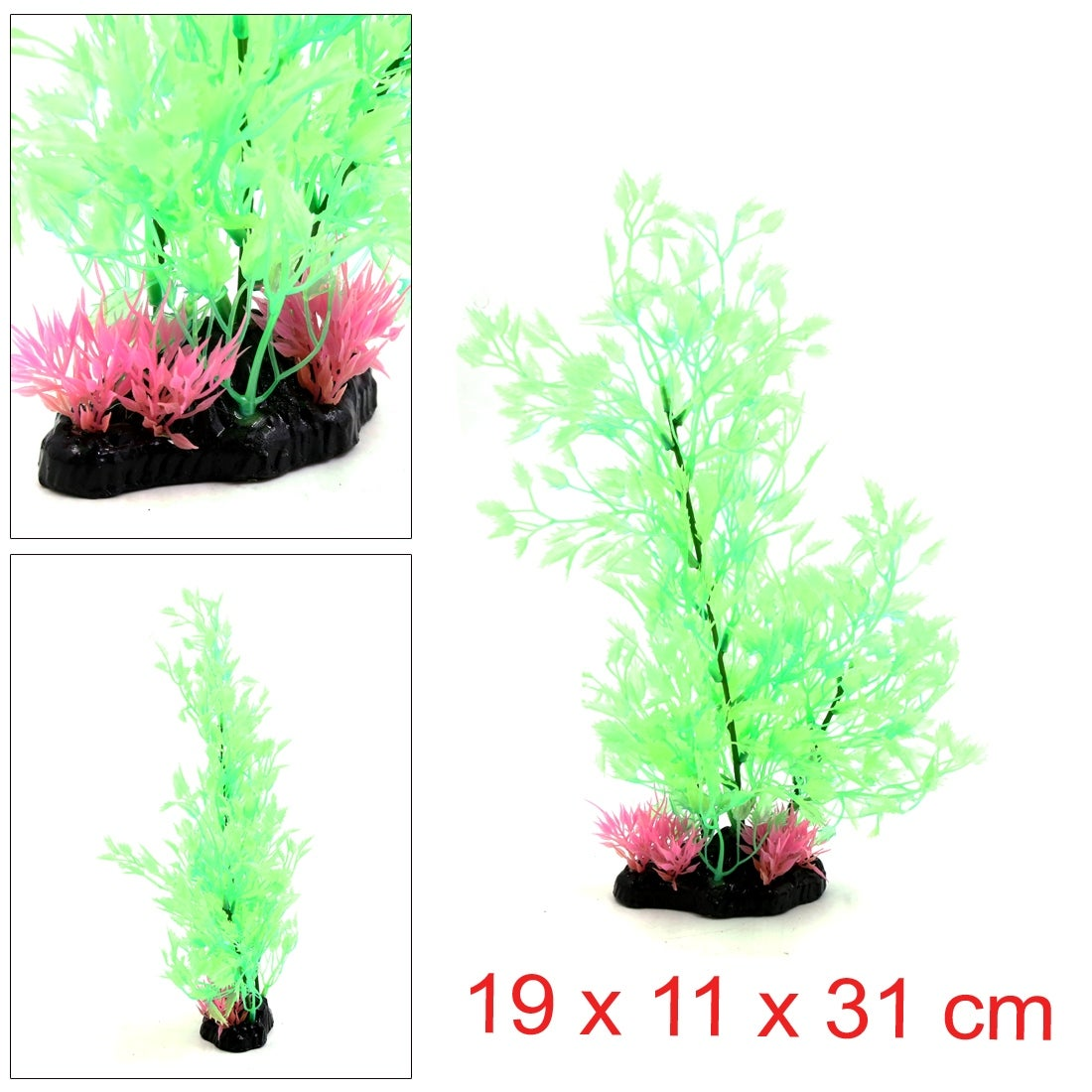 12 Plastic Decorative Plant Aquarium Terrarium Reptiles Tank Decor 19 X 11 X 31 Cm 7 48 X 4 33 X 12 20 L W H On Sale Overstock 24152632