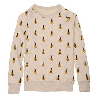 Catalog Classics Women's Honeybees Sweatshirt - Gray Novelty Bee Graphic Top