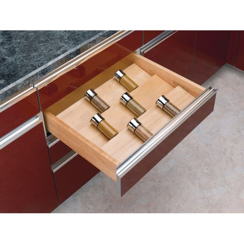 "Rev-A-Shelf 4SDI-24 4SDI Series 22"" Wide Spice Drawer Insert for Up To 24"" Base Cabinets - Natural Wood"