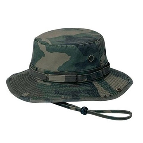 Washed Hunting Fishing Outdoor Hat-Camo