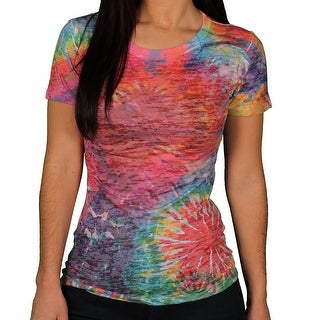 Blue 84 Juniors Burn-Out Sublimation Graphic Tee