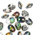 Czech Glass SuperDuo 2-Hole Seed Beads 2x5mm - Crystal / Vitral (8 Grams) - Thumbnail 0