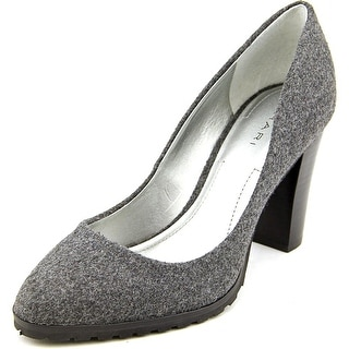 Tahari Remini Women Pointed Toe Canvas Gray Heels