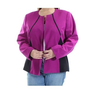 Womens Purple Casual Suit Jacket Size 16W