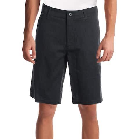 Fox Mens Dress Shorts Cotton Pinstripe - Charcoal - 32