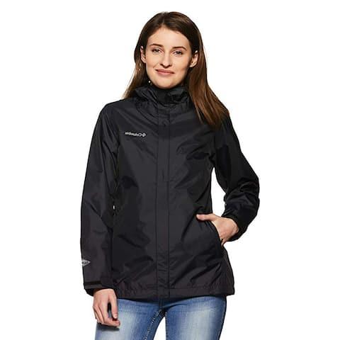 Columbia Women's Arcadia II Waterproof Rain Jacket, Black, Small