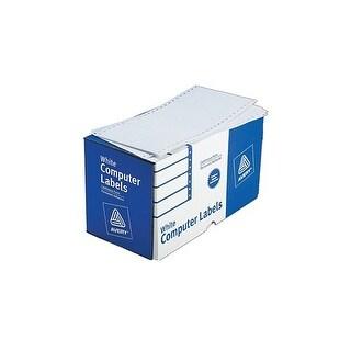 """""""Avery Dot Matrix Printer Shipping Labels Dot Matrix Printer Shipping Labels, 1 Across, 2 15/16 x 5, White, 3000/Box"""""""