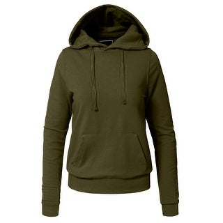 NE PEOPLE Women Basic Solid Comfortable Pullover Hoodie [NEWT29]