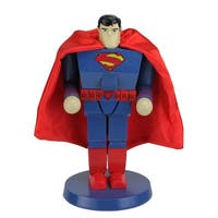 "10"" Superman Decorative Wooden Christmas Nutcracker Figure - BLue"