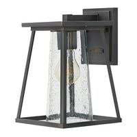 """Hinkley Lighting 2790-CL Burke Single Light 10-3/4"""" High Outdoor Wall Sconce with Seedy Glass"""