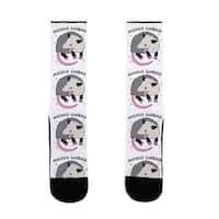 LookHUMAN Anxious Garbage Opossum US Size 7-13 Socks