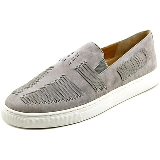 Vince Camuto Beyza Women Round Toe Suede Gray Loafer