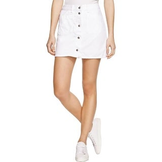 Rag & Bone/JEAN Womens Denim Skirt Button Front Mini