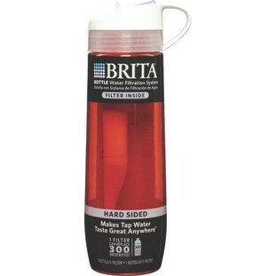 Brita 35811 Water Filtration Bottle 23.7 Oz, Persimmon