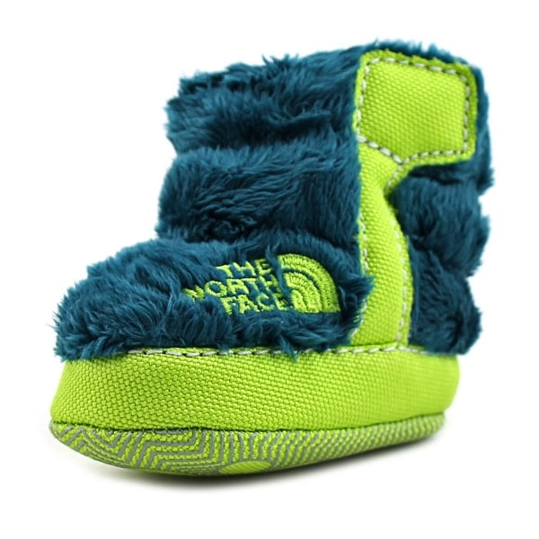 The North Face FLEECE BOOTIE Infant Round Toe Faux Fur Green Bootie