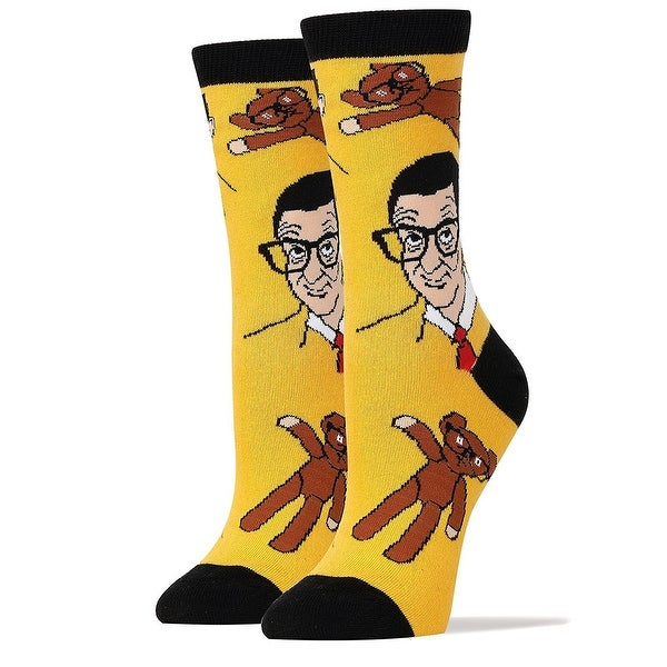 Mr Bean and Teddy Men's Crew Socks - Yellow