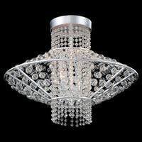 Metropolitan N7304 4-Light Semi-Flush Ceiling Fixture from the Saybrook Collection - catalina silver - n/a