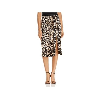 Kenneth Cole Womens Asymmetrical Skirt Party Animal Print