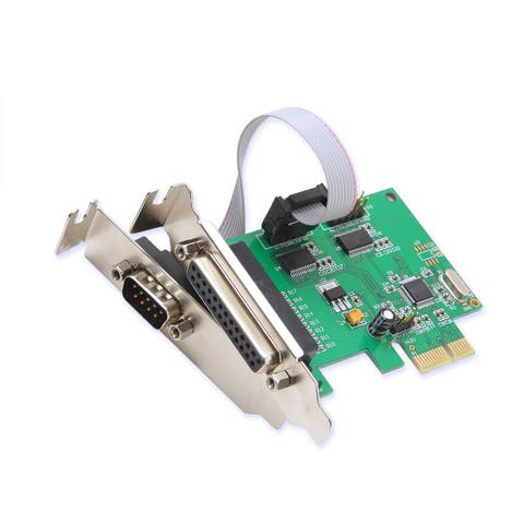 2 Port DB9 Serial and 1 Port DB25 Parallel PCI-e 1.0 x1 Card
