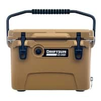 Driftsun 20 Quart Ice Chest / Heavy Duty Cooler / High Performance Commercial Grade Insulation (Tan)