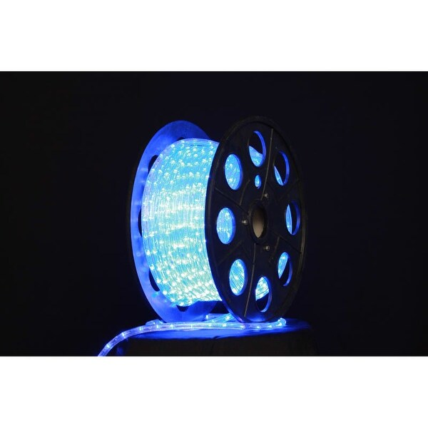 Christmas at Winterland C-ROPE-LED-BL-1-10 150 Foot 10mm Blue LED Rope Light with 1 Inch Spacing, 36 Inch Cut Length, and