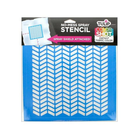 36640 tulip color shot stencil 10x10 herringbone