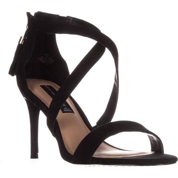 STEVEN Steve Madden Nahlah Dress Sandals, Black Suede