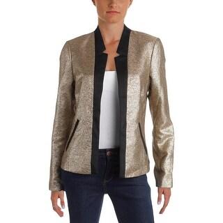 Scotch & Soda Womens Blazer Metallic Long Sleeves - 2