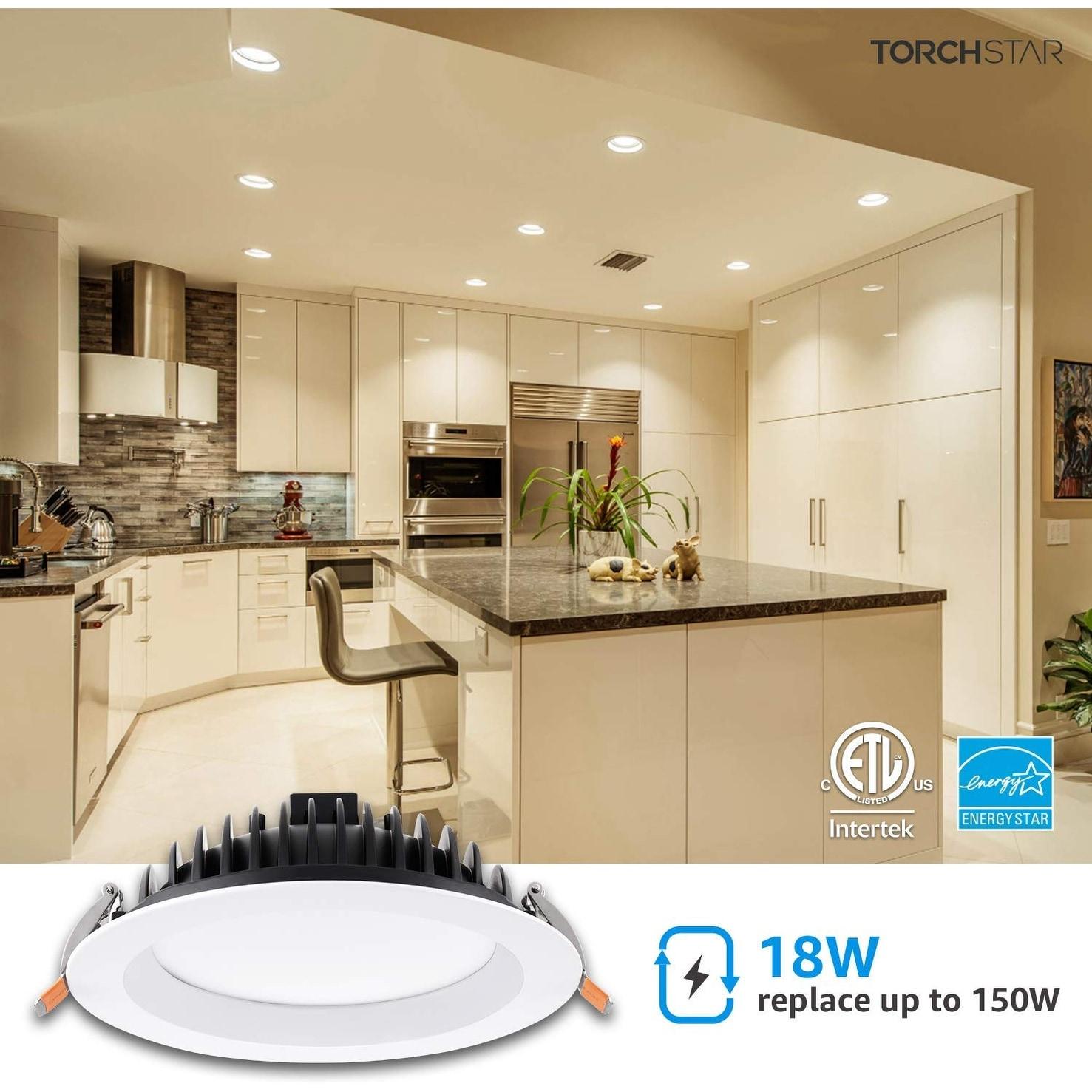 Image of: Shop Elite 6 18w Low Profile Slim Recessed Ceiling Light 6 Pack 3000k 5000k Overstock 30316378
