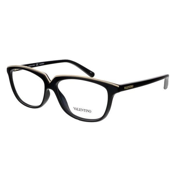 Valentino V2628 001 Black Rectangular Valentino Eyewear - 53-13-135