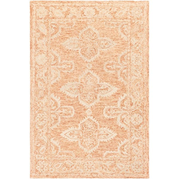 6 X 9 Brown And Beige Persian Floral Patterned Rectangular Hand Tufted Area Rug 6 Footx9 Foot Overstock 28689794