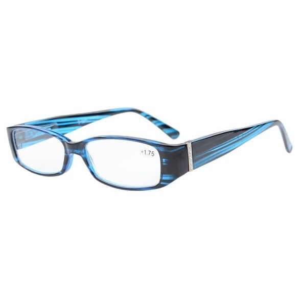Eyekepper Reading Glasses with Genuine Austrian Crystals Women Blue +1.5