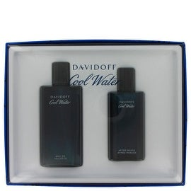 COOL WATER by Davidoff Gift Set -- 4.2 oz Eau De Toilette Spray + 2.5 oz After Shave Splash - Men