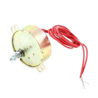 Round Two-Wired Synchronous Motor Brass Tone 50/60Hz 4W AC 220V