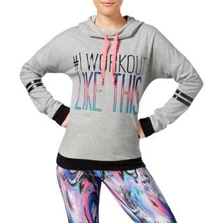 Material Girl Womens Juniors Sweatshirt Graphic Cowl Neck