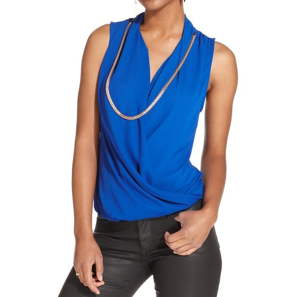 Material Girl Womens Blouse Sleeveless Hi-Low