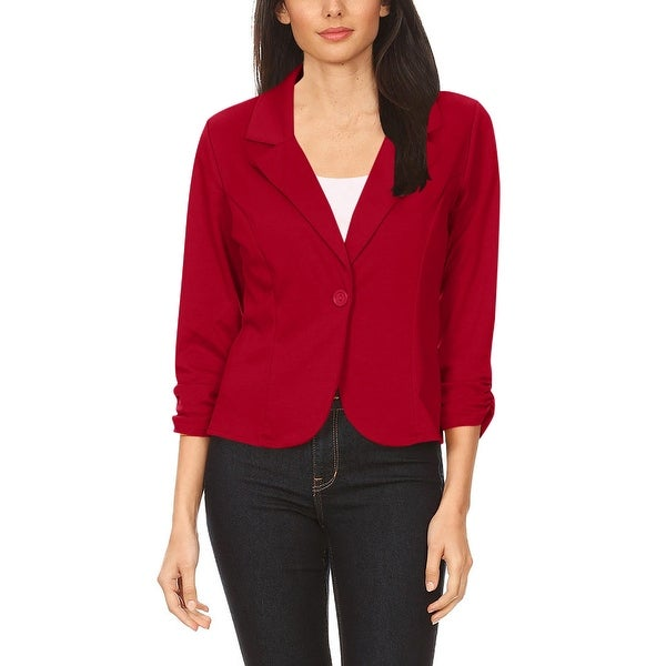Women's Casual Basic Long Sleeve Solid Blazer Jacket. Opens flyout.