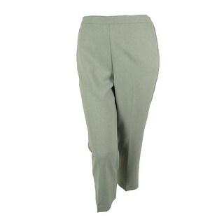 Alfred Dunner Women's Jewelry Box Dress Pants - Silver - 14p short
