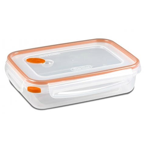 Sterilite 03211106 UltraSeal Rectangle Food Storage Container, Orange, 5.8 Cup