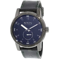Nixon Men's Patriot Leather A9382072 Black Quartz Fashion Watch