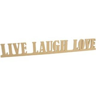 """25""""X3""""X.5"""" - Beyond The Page Mdf Live; Laugh; Love Standing Words"""