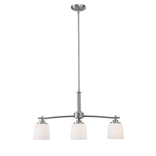 shop canarm ich463a03 dayena 3 light 28 wide linear chandelier