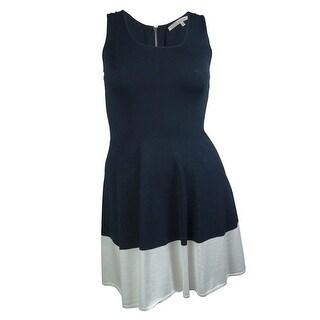 Rachel Roy Women's Colorblocked Scoop Neck Casual Dress - dark navy combo - xL