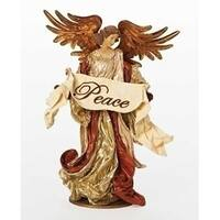 "17"" Have Faith Fabric Mache Religious Peace Angel Christmas Figure on Base"