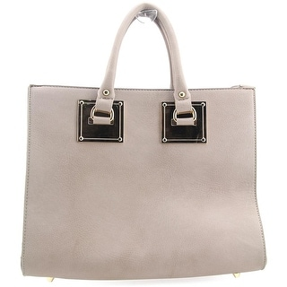 Madison West Gold Plate Satchel Women Synthetic Satchel - Gray