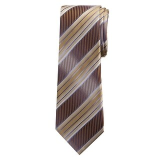 Marquis Men's Brown Stripes 3 1/4 Tie & Hanky Set TH100-024 - regular