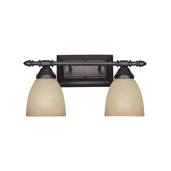 "Designers Fountain 94002 Two Light Down Lighting 15.75"" Wide Bathroom Fixture from the Apollo Collection"