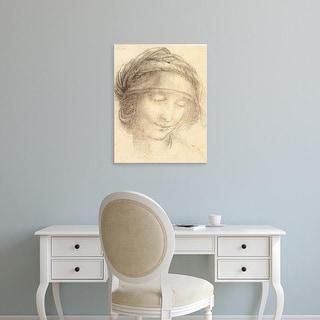 Easy Art Prints Leonardo da Vinci's 'Head of Saint Anne' Premium Canvas Art