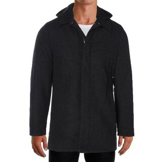 Perry Ellis NEW Charcoal Gray Mens Size Small S Full-Zip Hooded Jacket