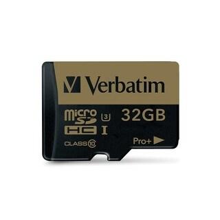 Verbatim 32Gb Proplus 600X Microsdhc Memory Card With Adapter, Uhs-1 U3 Class 10, 44033